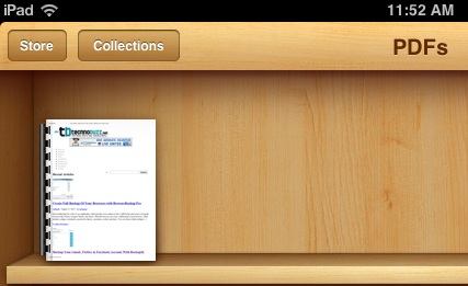 how to navigate pdf document in ipad