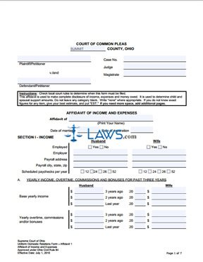 sample legal document for expense