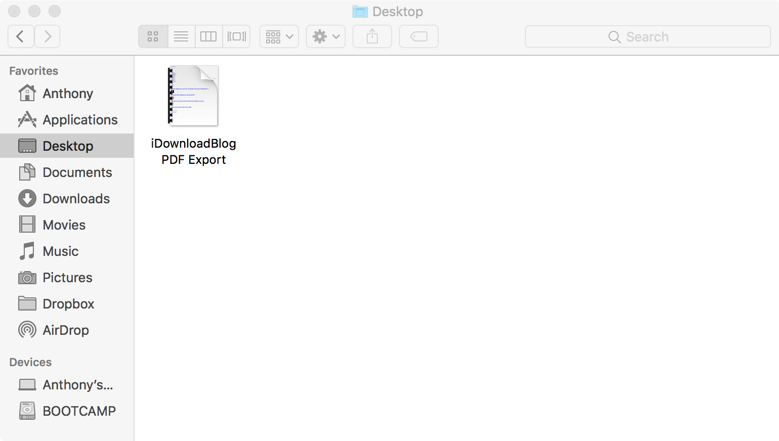 save document as pdf on mac