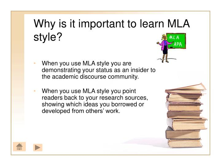what is true of mla documentation style