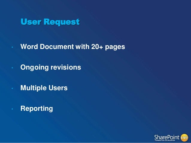 insert sharepoint version number in word document