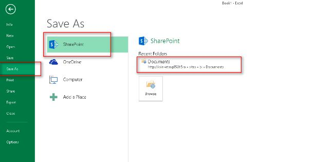 export sharepoint document library to excel