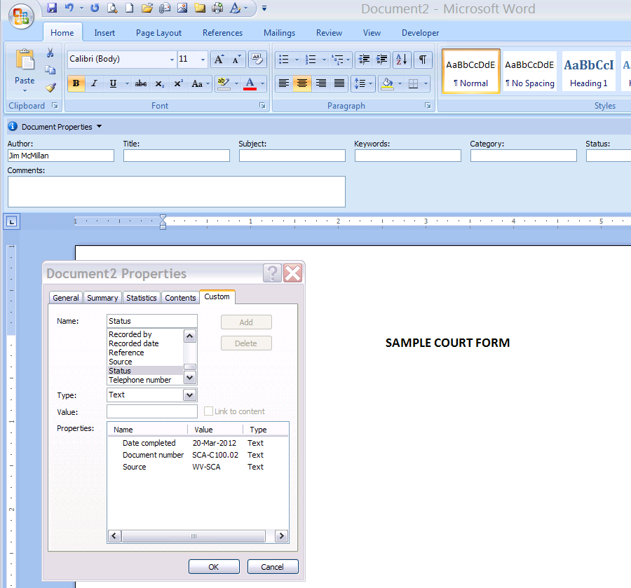 change file to word document