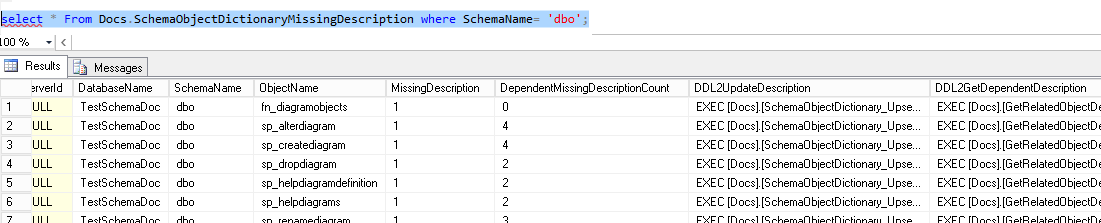 remove sql query from word document