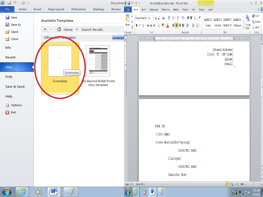how to search for word on document