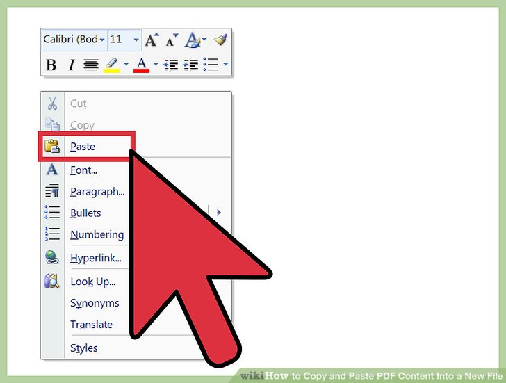 how to copy and paste a document