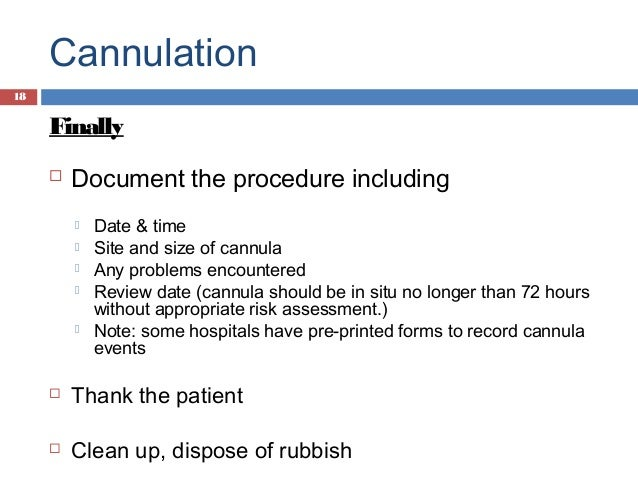 how to document iv infusion