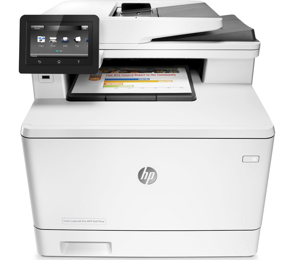 hp printer how to fax a document