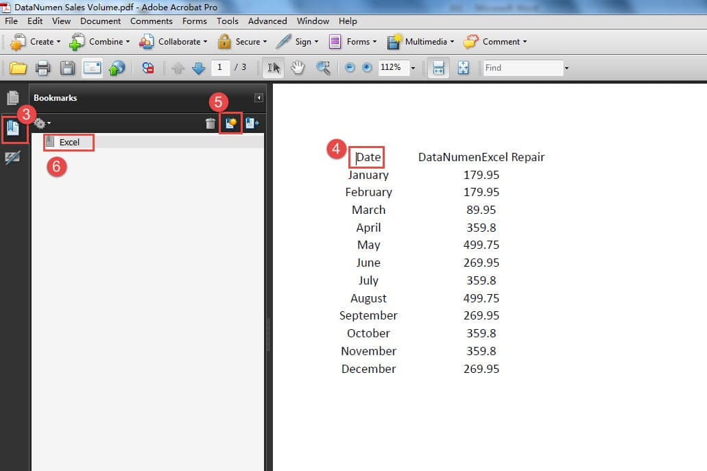 save pdf document as excel